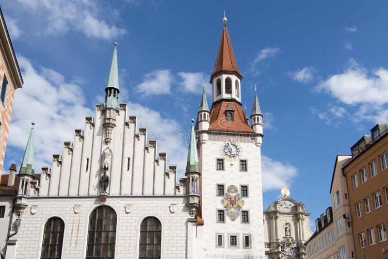 Старая ратуша Мюнхен стоковые фотографии rf