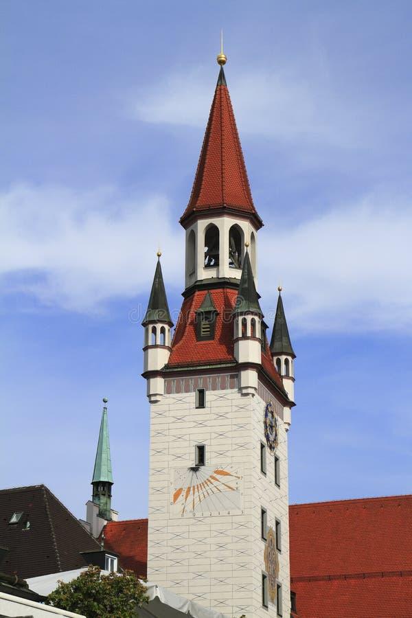 Старая ратуша с башней, Мюнхеном стоковая фотография rf