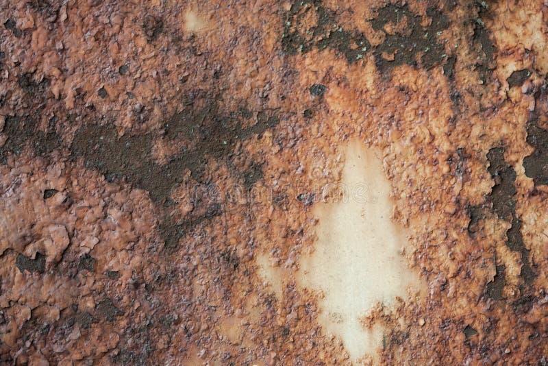 Старая ржавчина текстура ржавого металла коричнева Справочная информация стоковая фотография