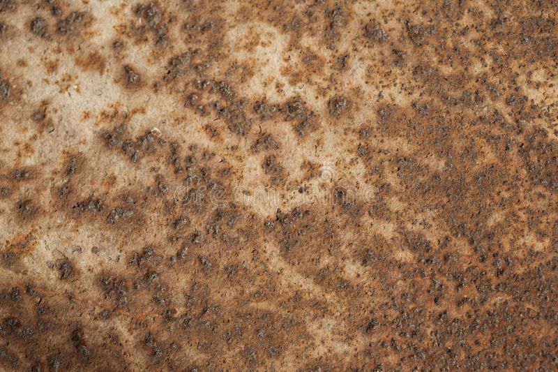 Старая ржавчина текстура ржавого металла коричнева Справочная информация стоковое фото rf