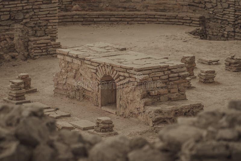 Старая римская баня стоковая фотография rf