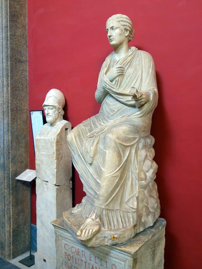 Старая римская мраморная статуя, музей Ватикана стоковое изображение