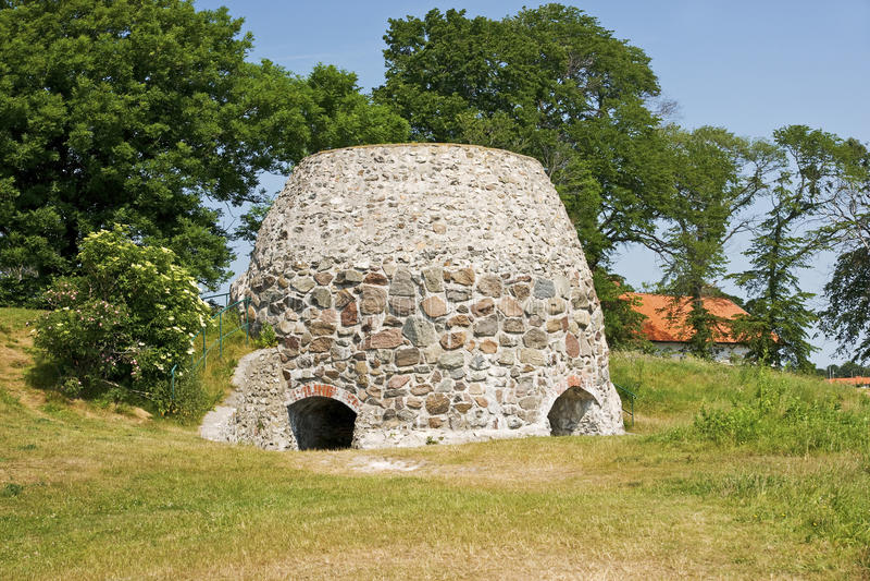 Старая руина в Skane стоковые изображения rf