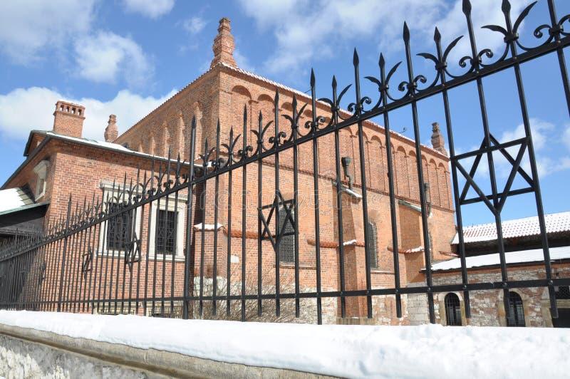 Старая синагога в Cracow стоковые фото