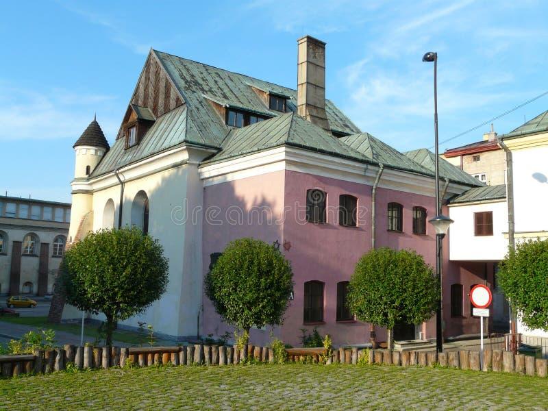 Старая синагога в Rzeszow, Польше стоковое фото rf
