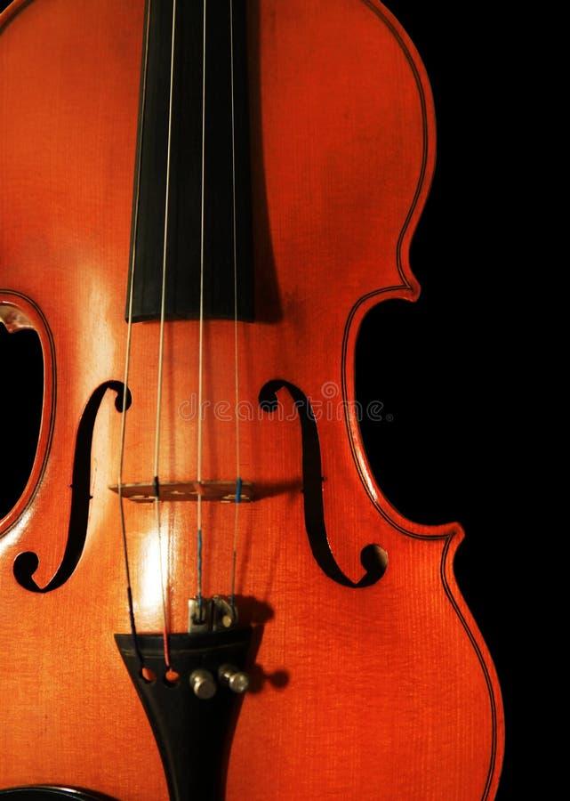 Старая скрипка на черной предпосылке стоковая фотография rf
