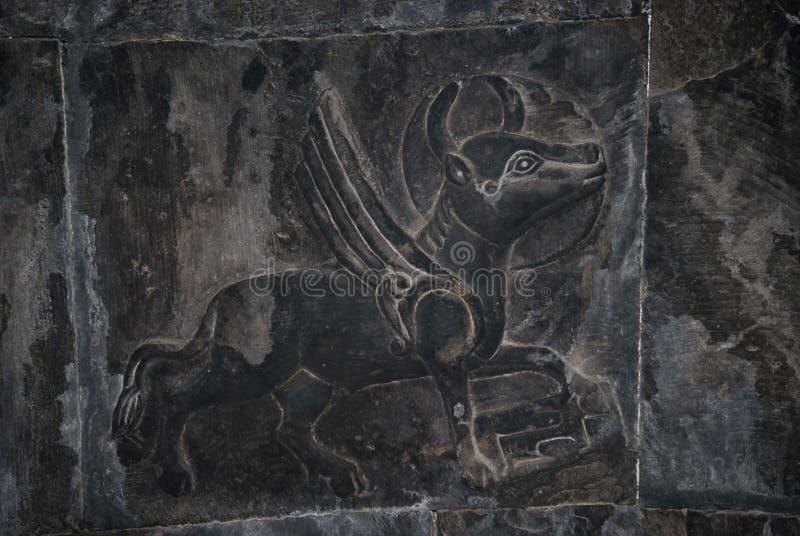 Старая скульптура в часовне Surb Grigor комплекса Noravank в Армении стоковые фотографии rf