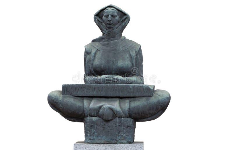 Старая скульптура женщины стоковое изображение rf