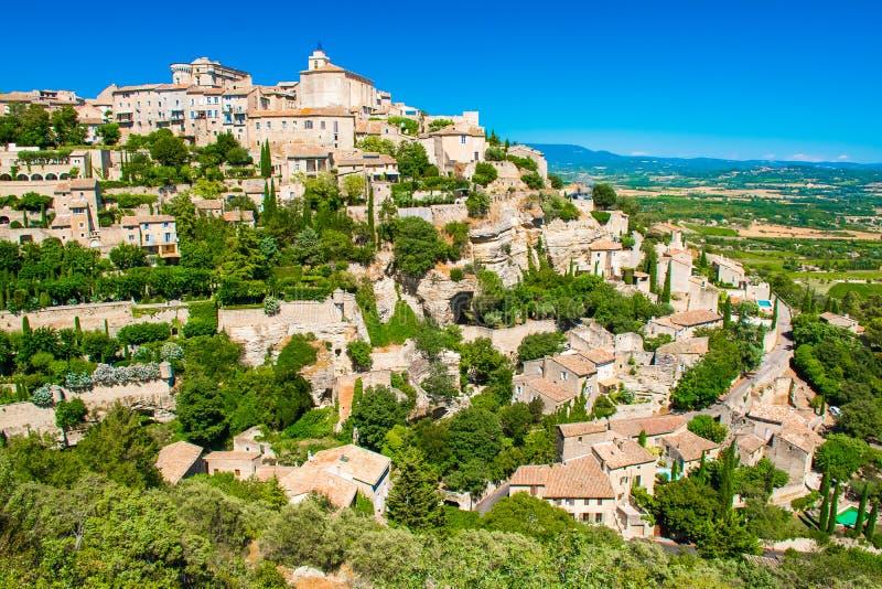 Старая средневековая деревня Gordes, Провансали, Франции стоковое изображение rf