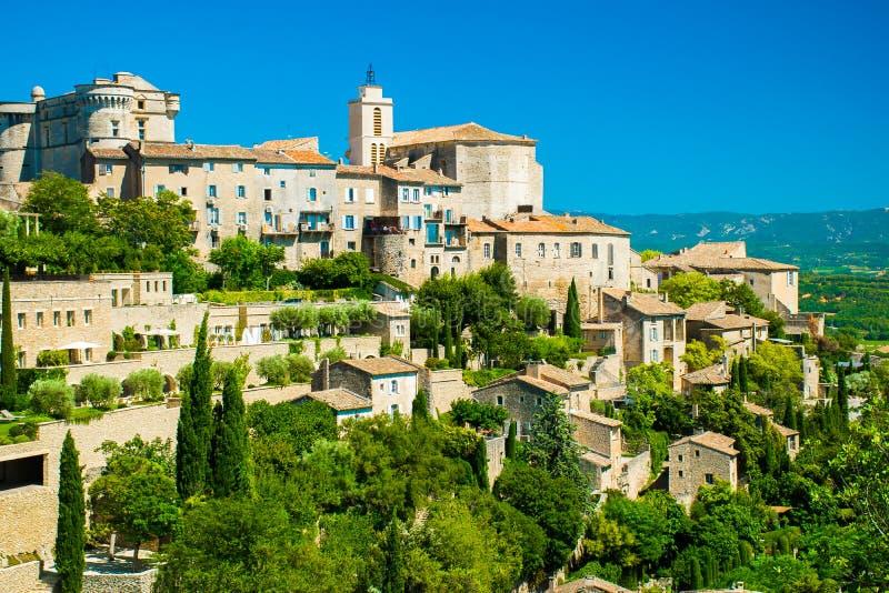 Старая средневековая деревня Gordes, Провансали, Франции стоковое фото