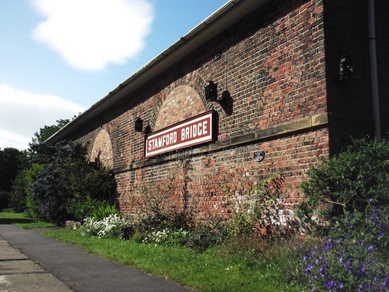 Старая станция на мосте Stamford, Йоркшире стоковое фото rf