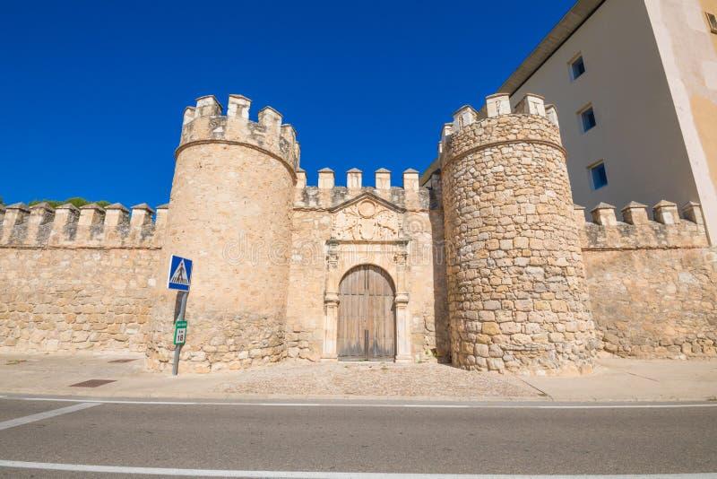 Старая стена города в Penaranda de Duero стоковая фотография rf