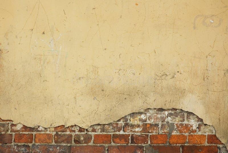 Старая стена дома - славная предпосылка с космосом для текста стоковое изображение rf