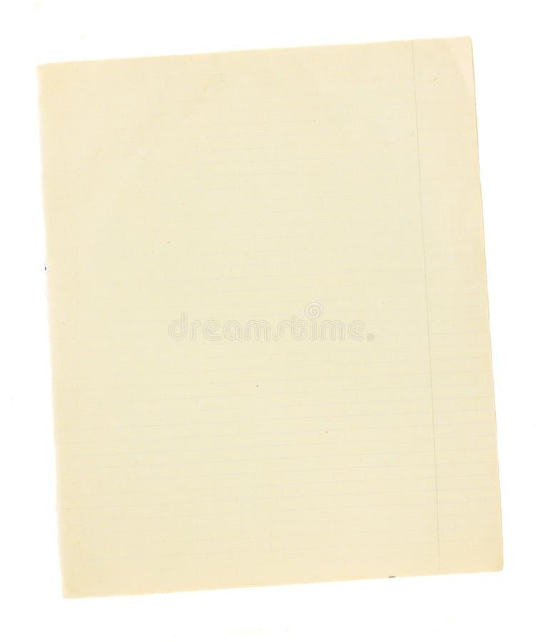 Старая страница управляемой бумаги стоковое изображение