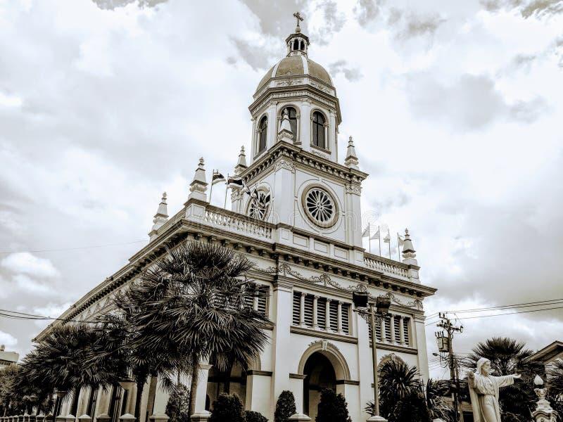 Старая строя церковь Бангкок Таиланд архитектуры стоковая фотография