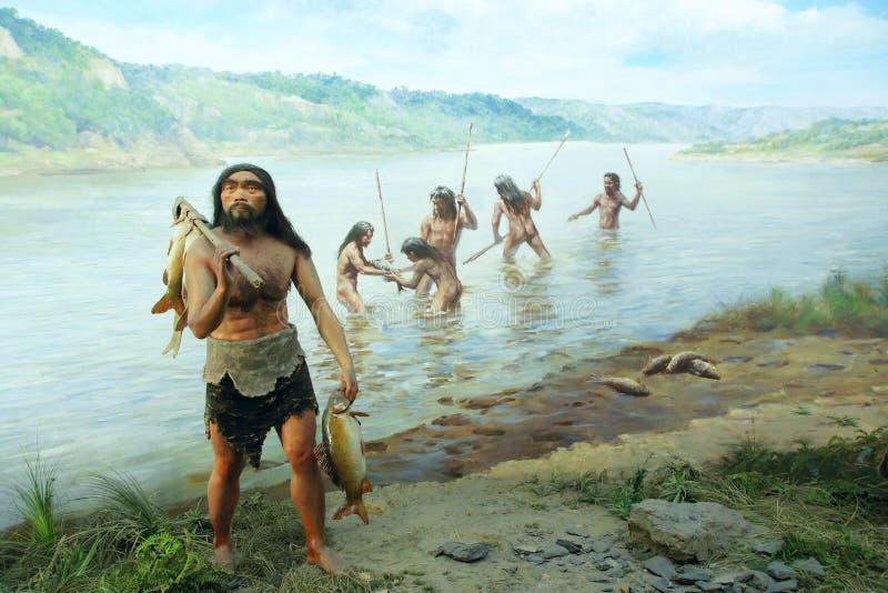 Старая сцена рыбной ловли стоковая фотография