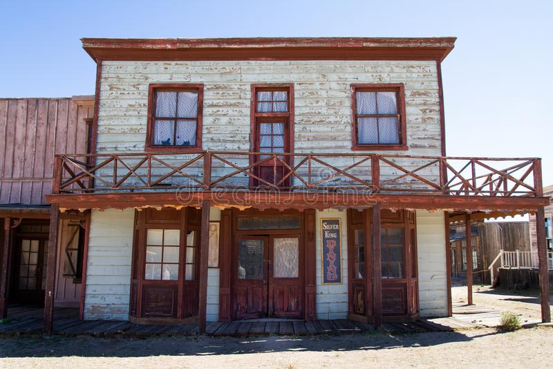 Старая съемочная площадка городка Диких Западов в Аризоне стоковые фото