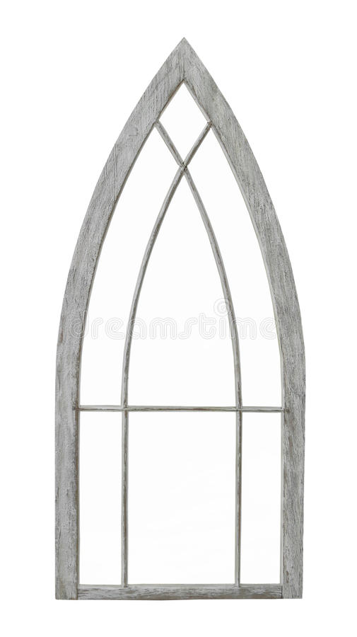 Старая сдобренная изолированная оконная рама стоковое фото rf