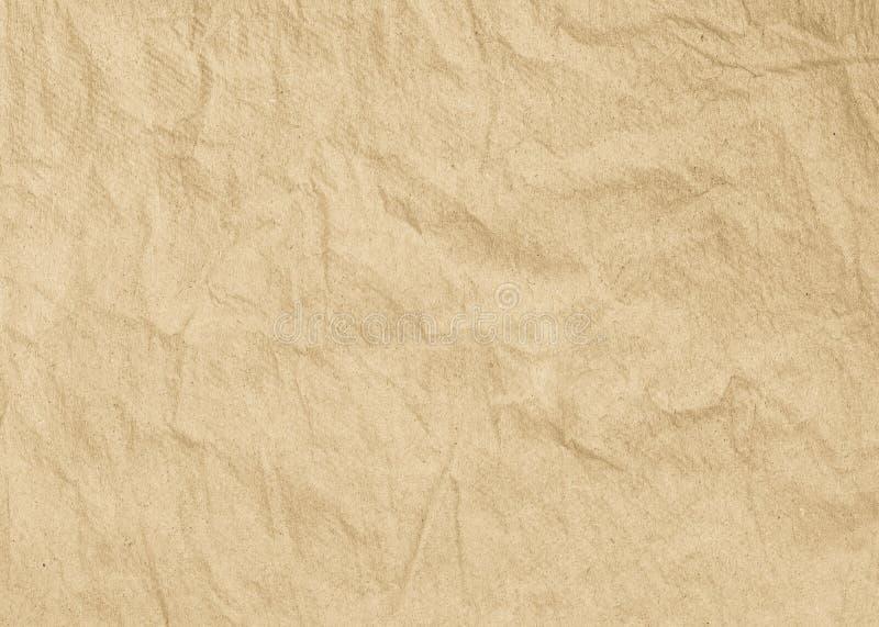 Старая текстура бумаги Брайна для предпосылки стоковые фотографии rf