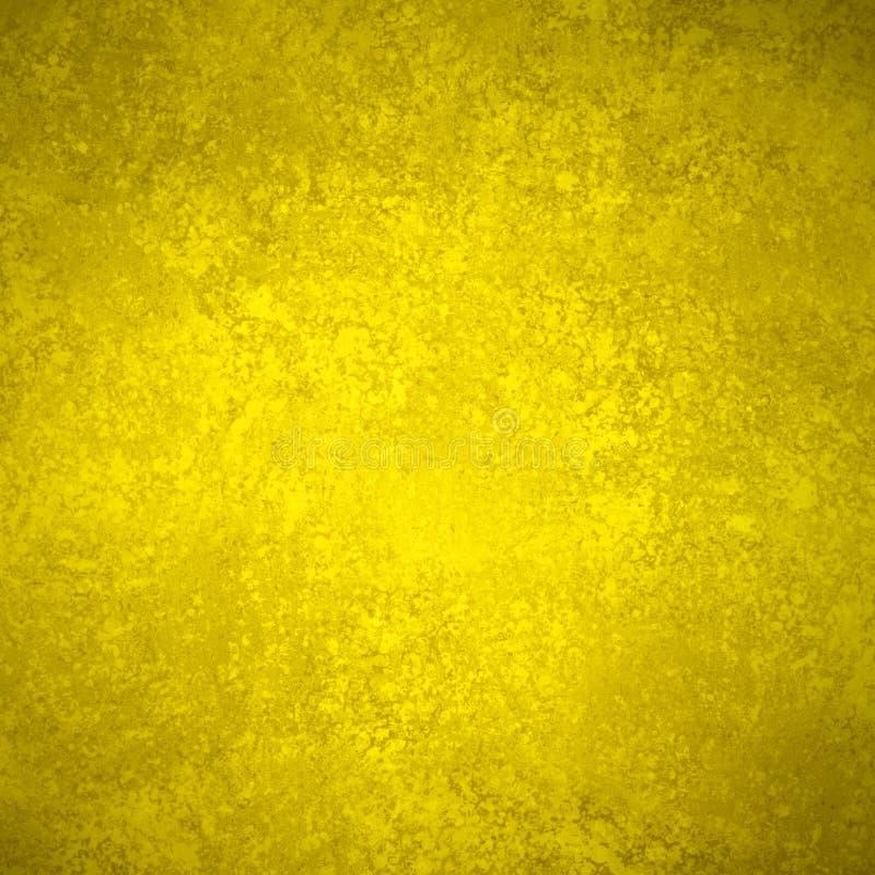 Старая текстура предпосылки желтого золота и огорченный коричневый grunge границы в винтажной бумажной иллюстрации стоковое изображение rf