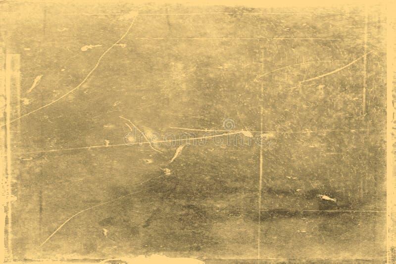 Старая текстура фото с пятнами и царапинами Винтажная и античная концепция искусства Вид спереди рамки пробела старой достигшей в стоковые изображения