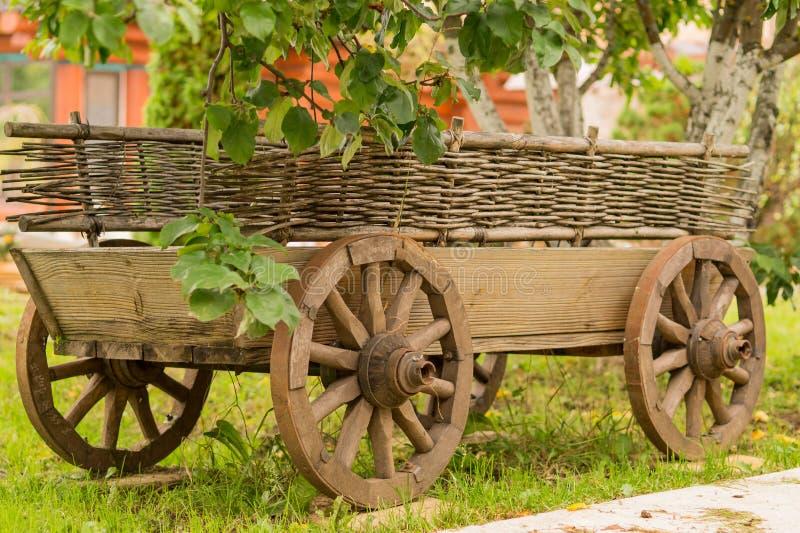 Старая тележка под деревом стоковое фото