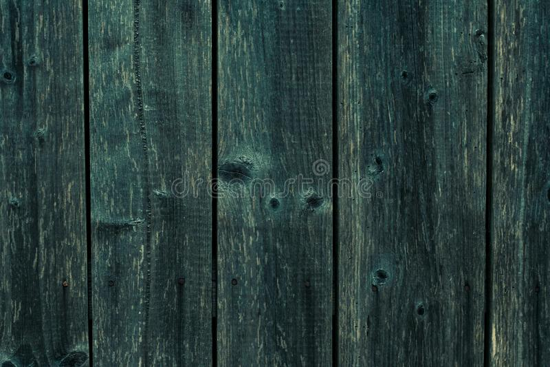 Старая темная ая-зелен деревянная предпосылка текстуры Стена темно-синей планки деревянная Серая текстура деревянной доски Ретро  стоковые изображения rf