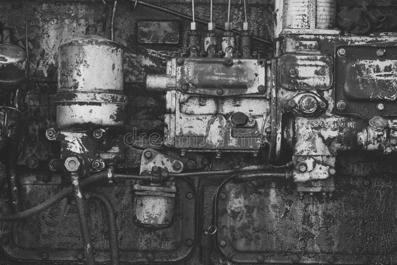Старая технология, год сбора винограда Индустрия, инженерство, машина Прибор, инструмент, шестерня Фабрика, оборудование изготовл стоковое изображение