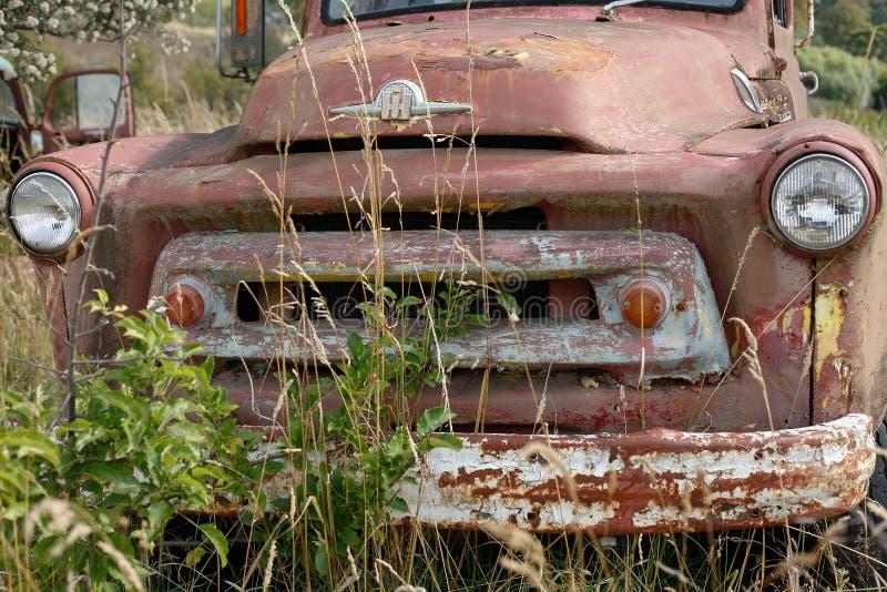 Старая тележка в траве стоковое фото