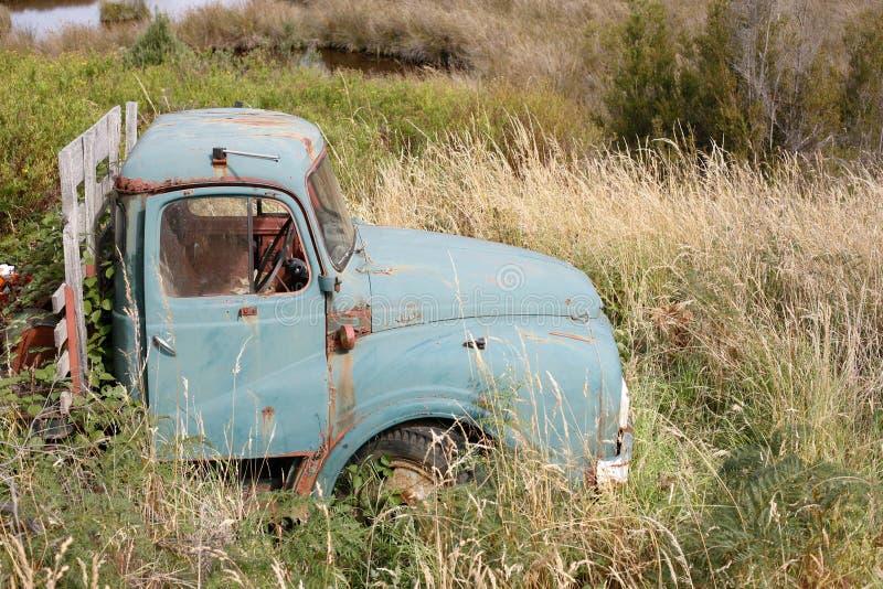 Старая тележка в траве стоковые фото