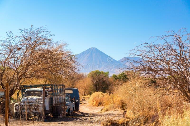 Старая тележка в San Pedro de Atacama стоковое изображение