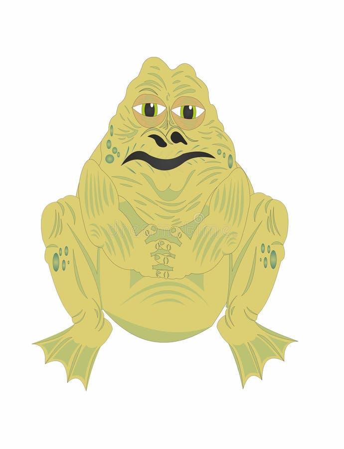 Старая толстая жаба бесплатная иллюстрация