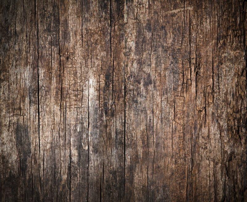 Старая, треснутая деревянная предпосылка стоковые фотографии rf