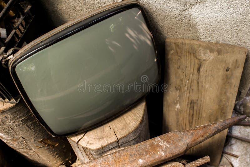 Старая трубка ТВ стоковое фото rf