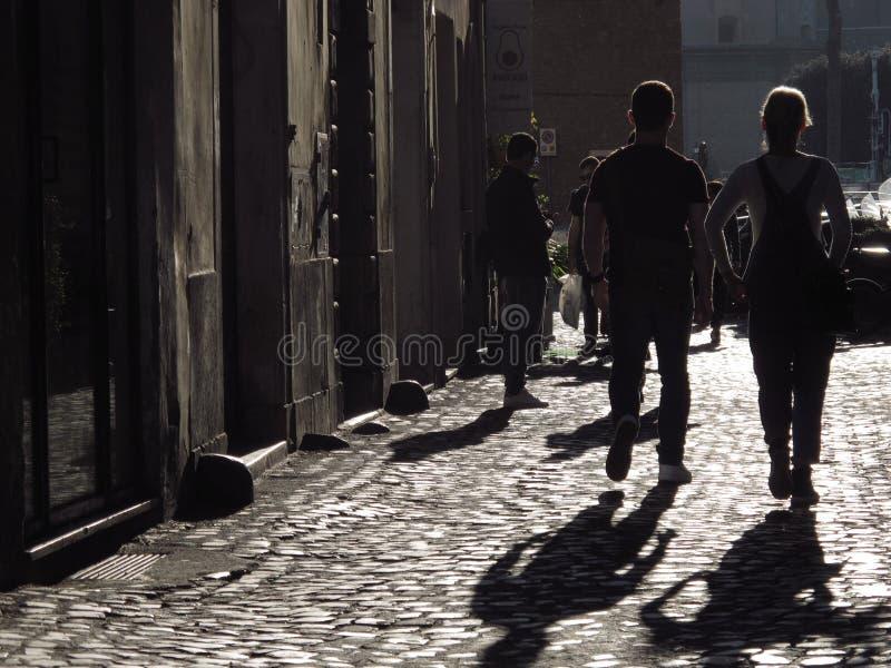Старая улица в Риме стоковые фото