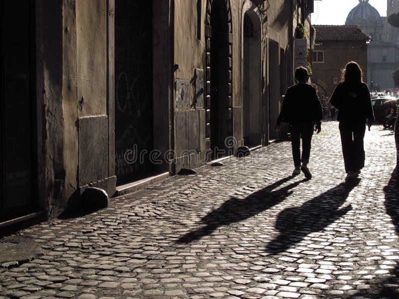 Старая улица в Риме стоковое изображение