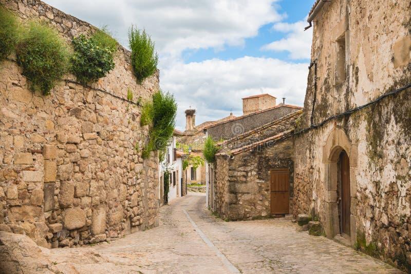 Старая улица Trujillo стоковая фотография rf