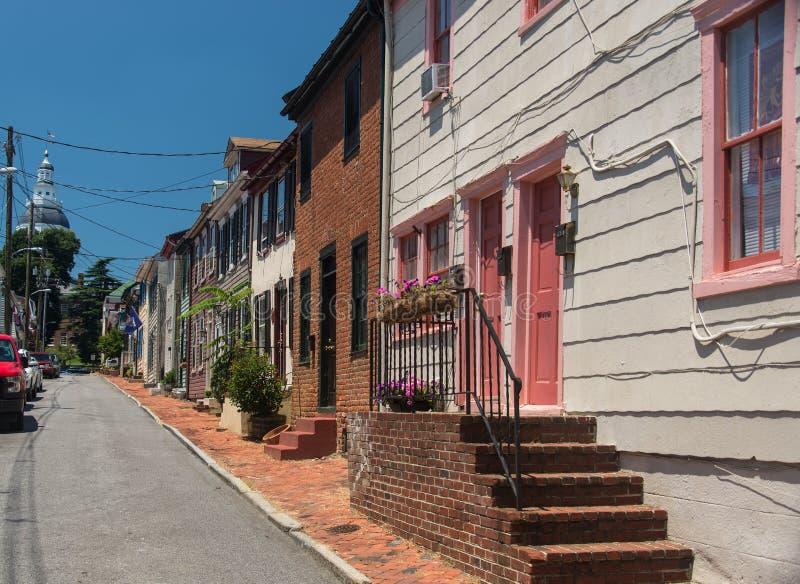 Старая улица 5 Аннаполиса стоковые изображения rf
