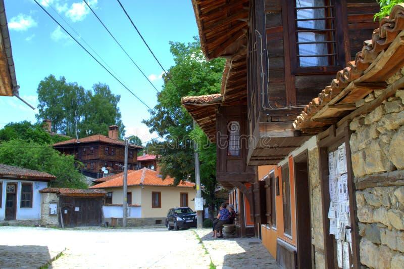 Старая улица Koprivshtitsa стоковое фото