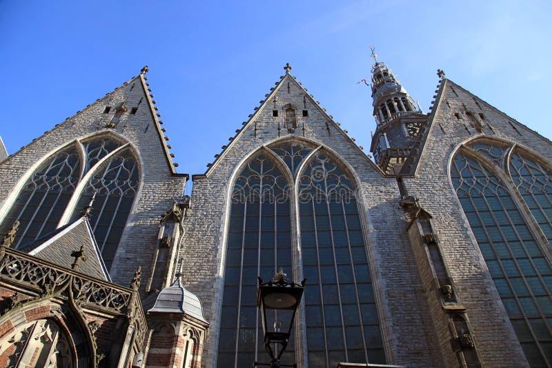 Старая церковь в Амстердаме, Нидерландах стоковые фотографии rf