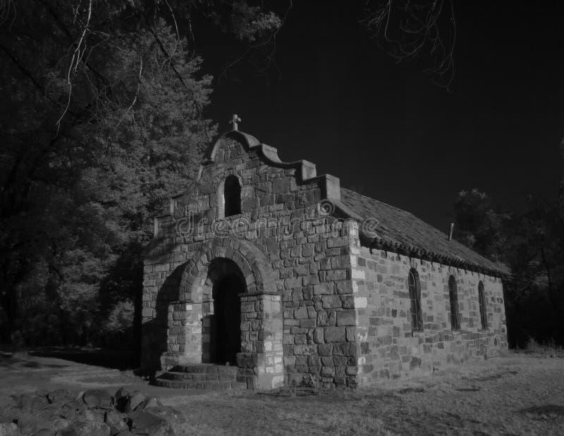 Старая церковь в форте Stanton, NM стоковые фотографии rf