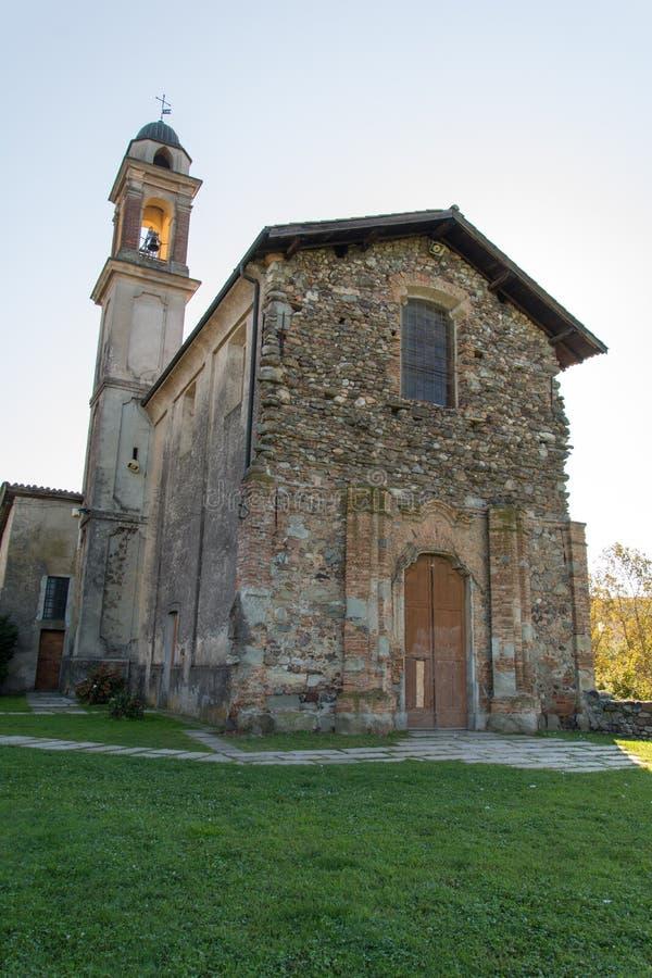 Старая церковь в Malnate, Варезе стоковые изображения