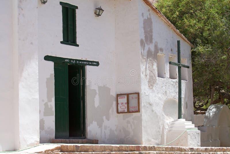 Старая церковь в Purmamarca, провинции Jujuy, Аргентине стоковая фотография rf