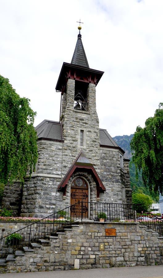 Старая церковь в Vitznau, Люцерне стоковое изображение rf
