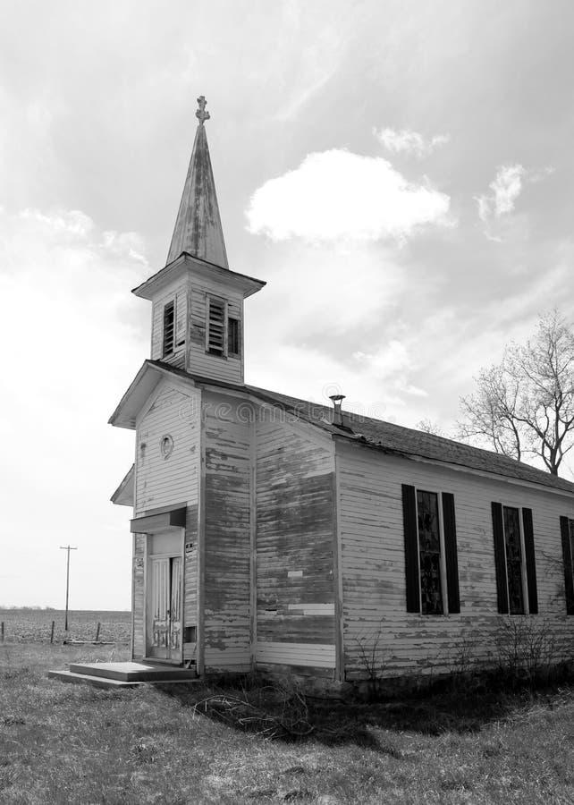 Старая церковь 1812 здания школы стоковые фотографии rf