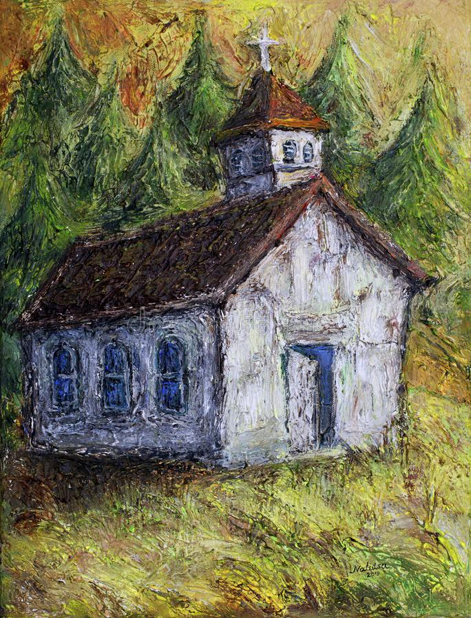 Старая церковь Канада иллюстрация штока