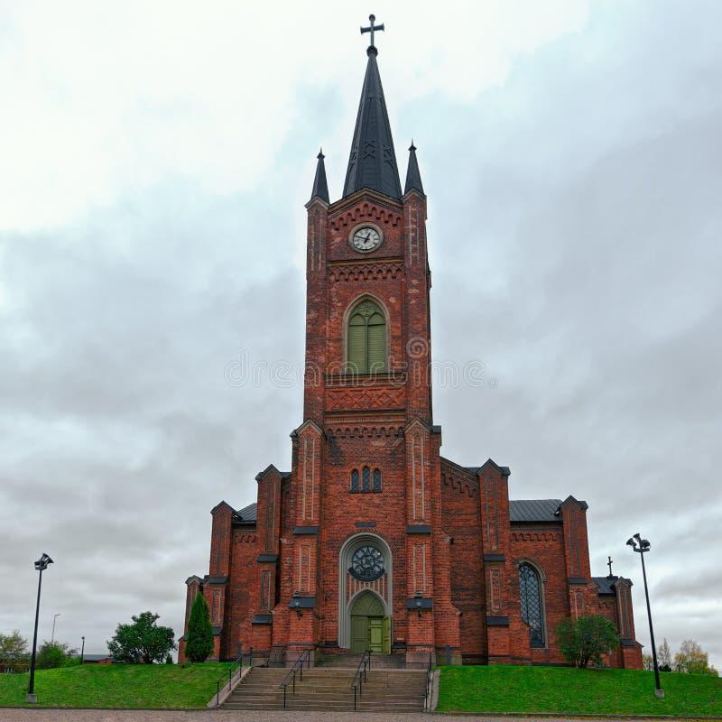 Старая церковь лютеранина в городке Loviisa стоковые изображения rf