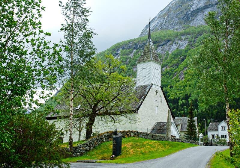 Старая церковь Eidfjord, Норвегия стоковая фотография rf