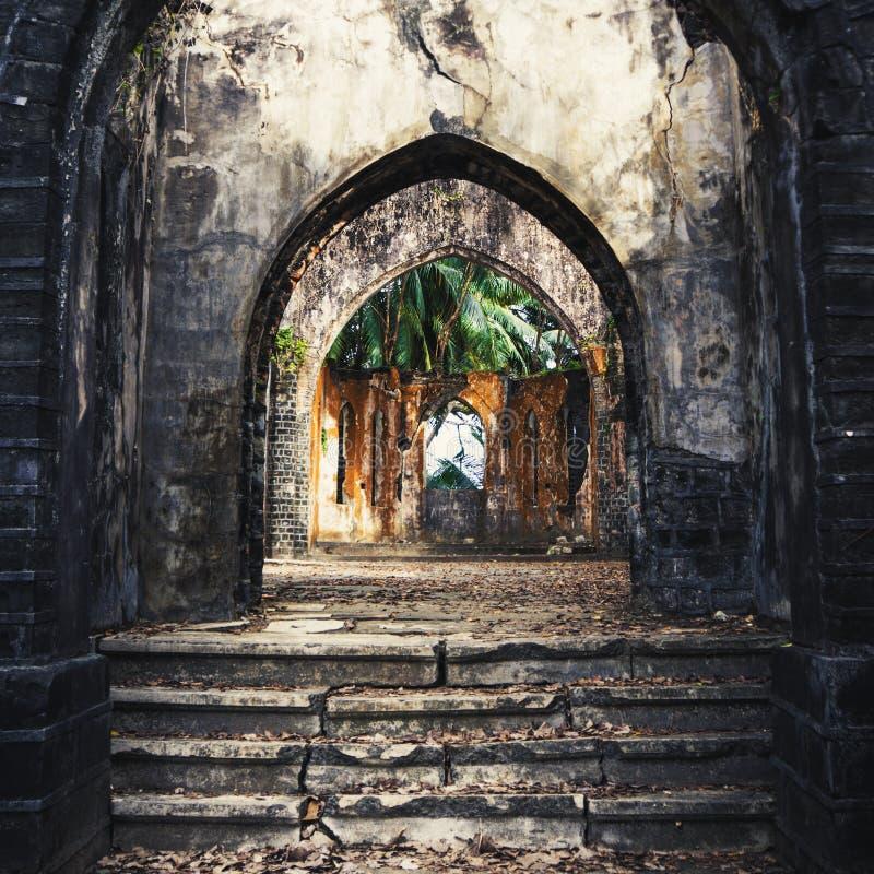 Старая церковь presbyterian губит остров Ross, Port Blair стоковая фотография