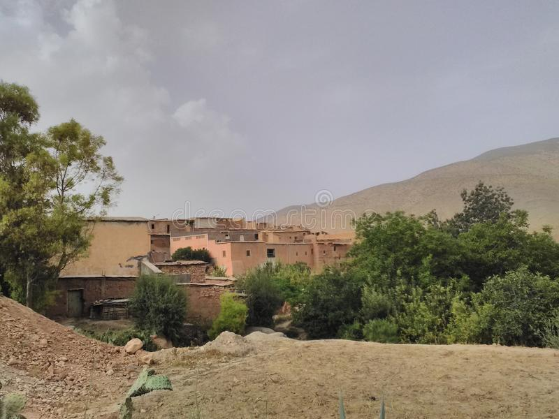Старая цивилизация в горах атласа стоковые изображения